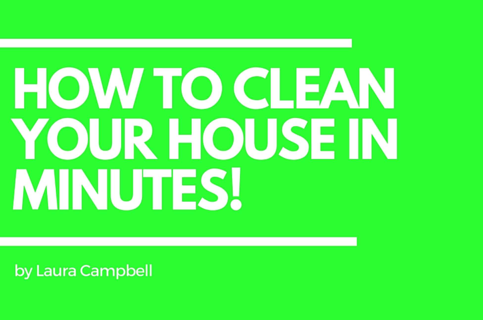 How-To-Clean-Your-house-In-Minutes